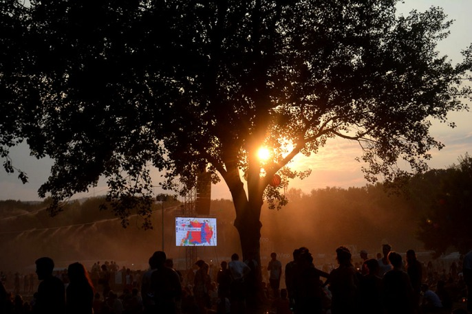 Sunset on Sziget