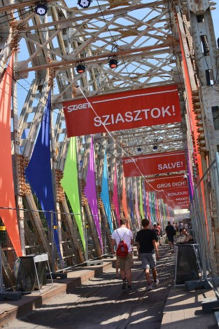 Arrival on Sziget