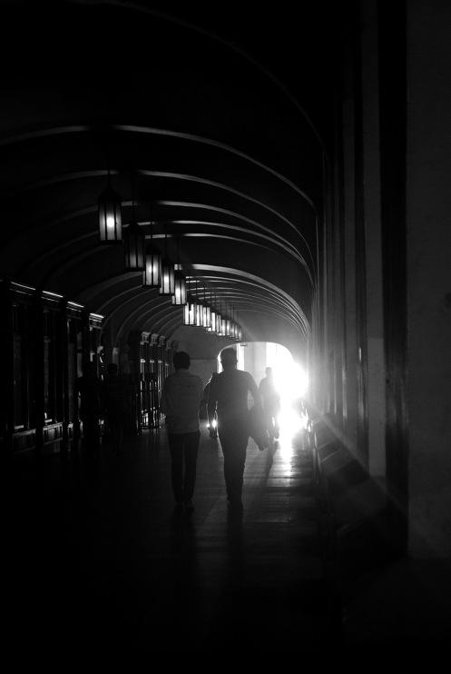 Passage of light