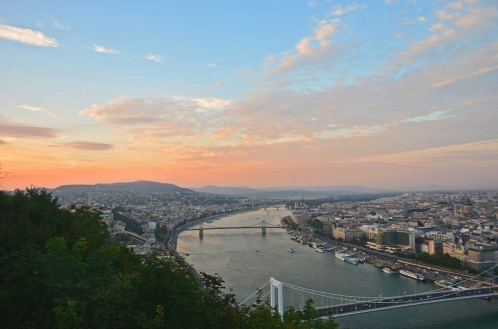 Sunset from Gellért Hill