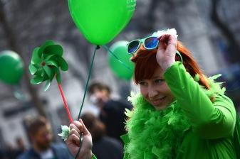 Celebrating at the Budapest Saint Patrick's Parade