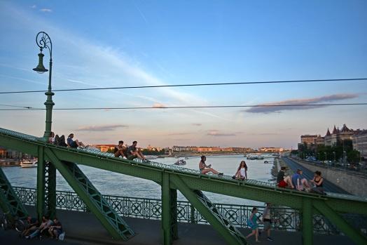 Summer sunset from Freedom Bridge
