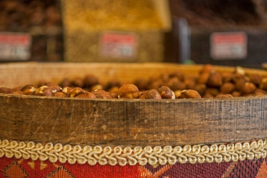 Hazelnuts at the market