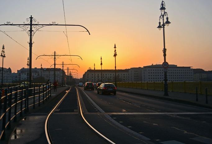 Sunrise over Margithíd