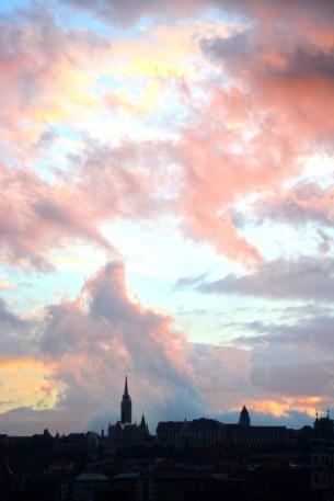 Sunset over Buda