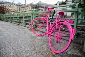 Pink bike on Karlsplatz