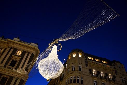 Christmas lights on Graben