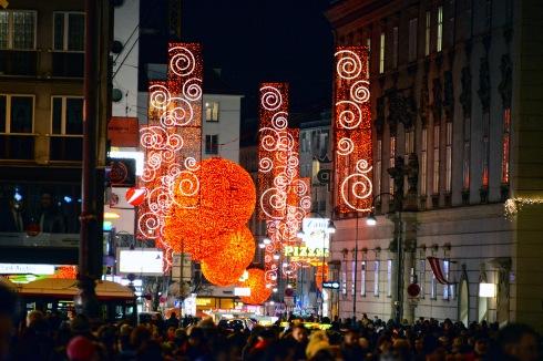 Christmas lights on Rotenturmstrasse