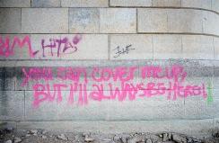 Margit bridge graffiti