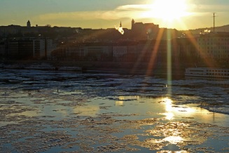 Ice floes on the Danube