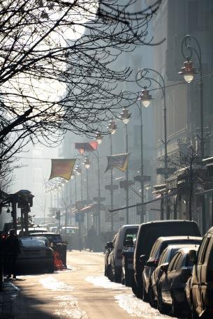 Winter morning on Ráday street