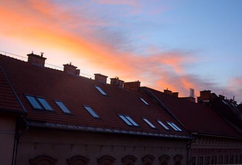 Sunrise on my street