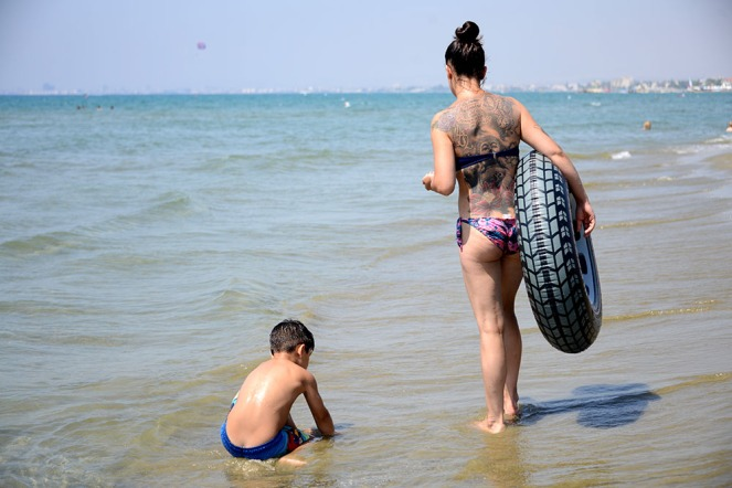 A day at the beach in Larnaca