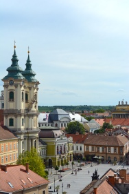 Eger- view of the main square from the fortress
