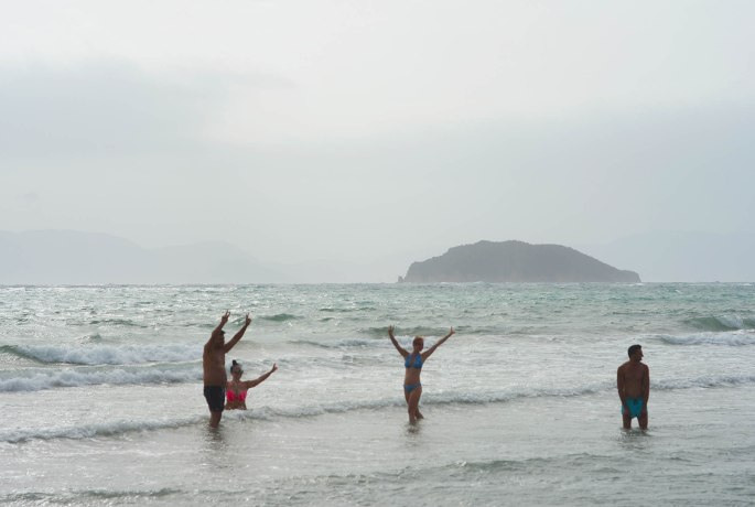 Gerakas beach with Turtle Island in the background