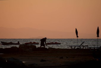 Morning on the beach in Argassi
