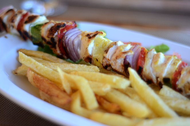 The classic chicken souvlaki