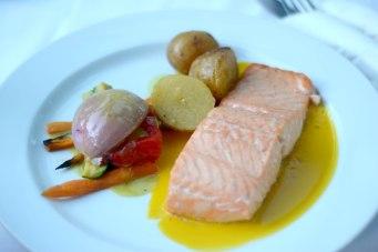 Salmon steak in Peppermint restaurant