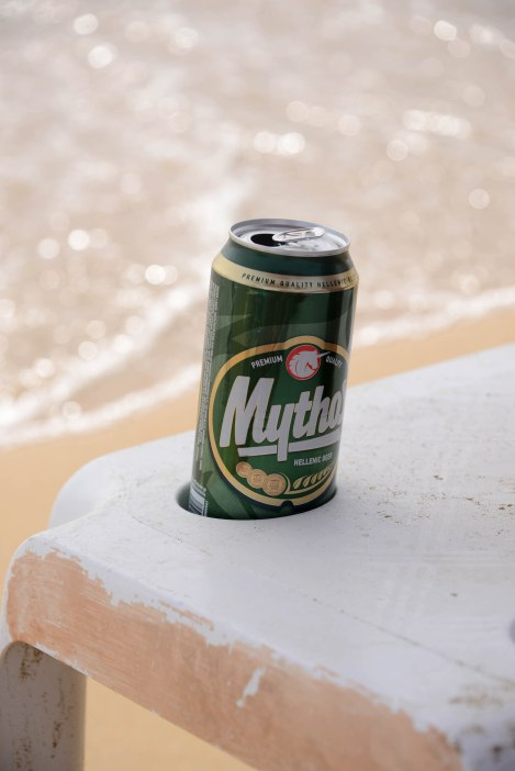 Mythos on the beach