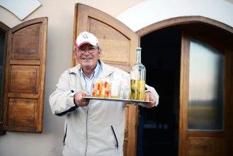 Etyek- the wine is served