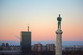 The Victor at sunrise