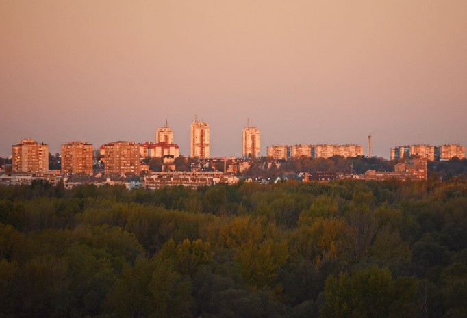 View from Kalemegdan at sunrise