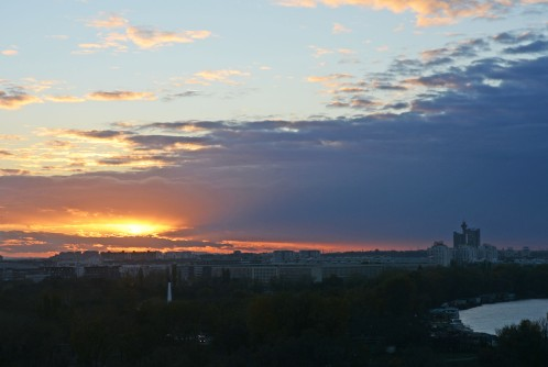 View from Kalemegdan at sunset