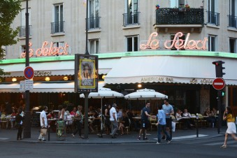 People sitting on terraces in Paris