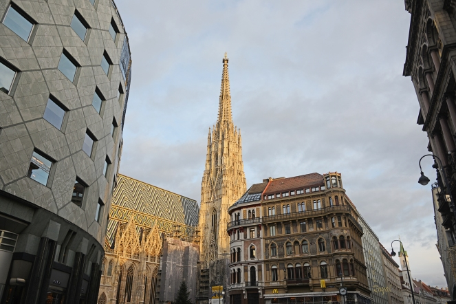 Stephansdom minues the scaffolding