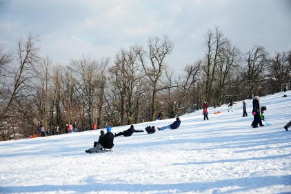 Winter at Normafa- butt skillet practice
