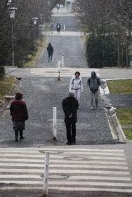 Road leading to Kirche am Steinhof