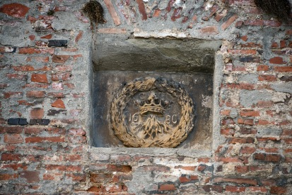 Brașov- The coat of arms on the outer walls of the Citadel