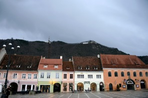 Brașov- View of the Tâmpa from the Main Square