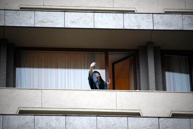 Brașov- Selfie on the hotel balcony