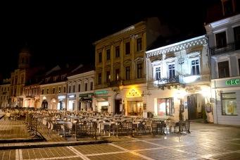 Brașov- The main square at night