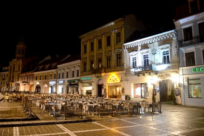 Brașov- The main square at night