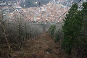 Brașov- Cable car ride to the Tâmpa