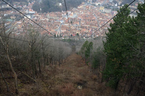 Brașov- Cable car ride to the Tâmpa