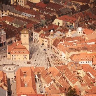 Brașov- Main Square seen from the Tâmpa