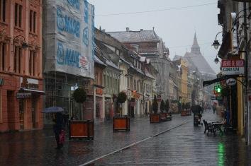 The snow commences in Brașov