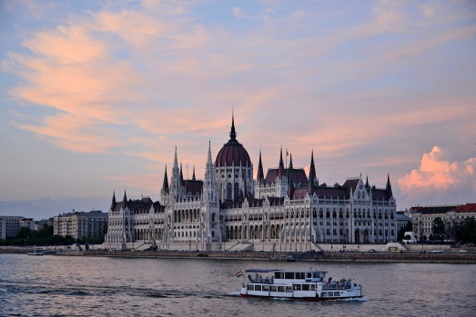 Sunset by the Danube