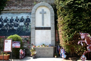 Turin- Memorial to the Grande Torino at Superga