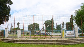 The old sports centre in Erzsébet-liget