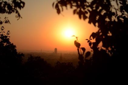 Sunrise over Gellért Hill