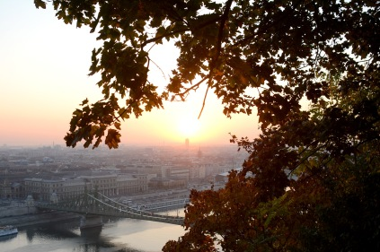Sunrise over Gellért Hill