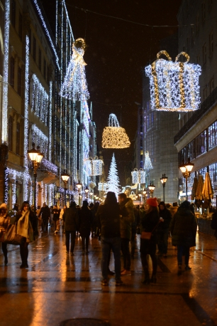 Christmas in Budapest- Fashion street