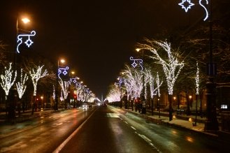 Christmas in Budapest- Andrássy avenue