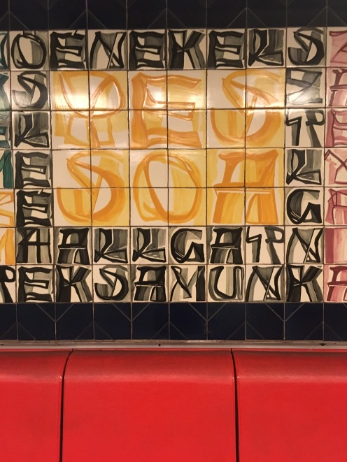 Because there's Portuguese poetry in the Deák square metro station