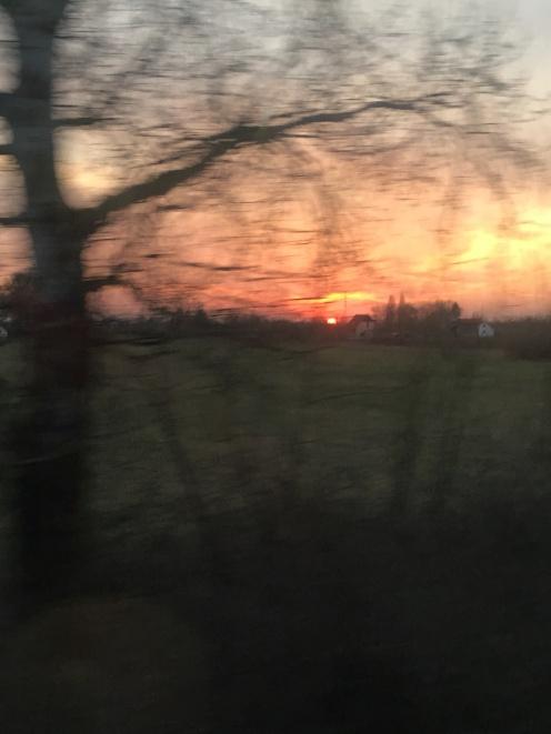Amazing train sunset photography