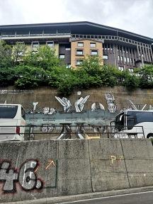 Graffiti of Yugoslav 'spomeniks', Sarajevo
